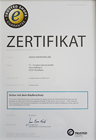 MeinReha.de jetzt Trusted-Shops zertifiziert